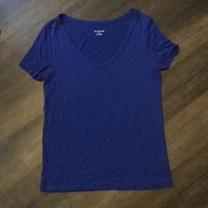 [Merona] Basic Blue V Neck Tee